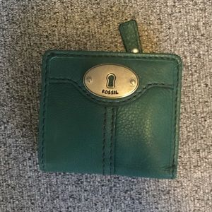 Fossil wallet - great green color!